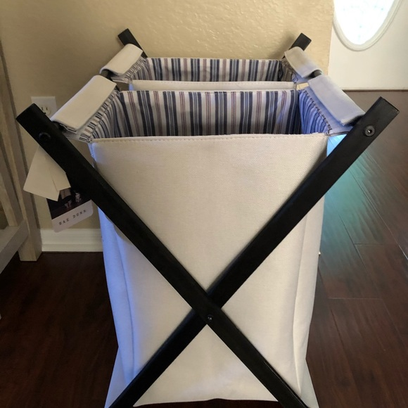 Rae Dunn laundry basket
